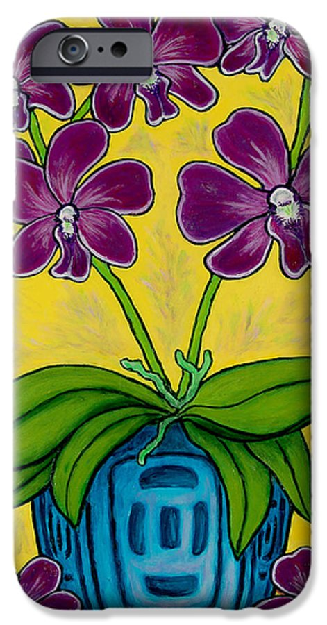 Orchids IPhone 6s Case featuring the painting Orchid Delight by Lisa Lorenz