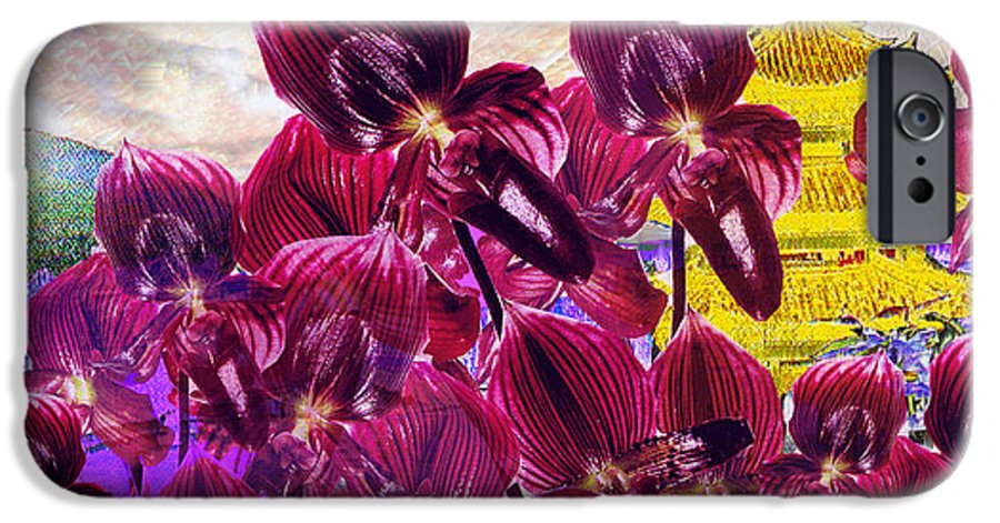 Far East IPhone 6s Case featuring the digital art Oriental Orchid Garden by Seth Weaver