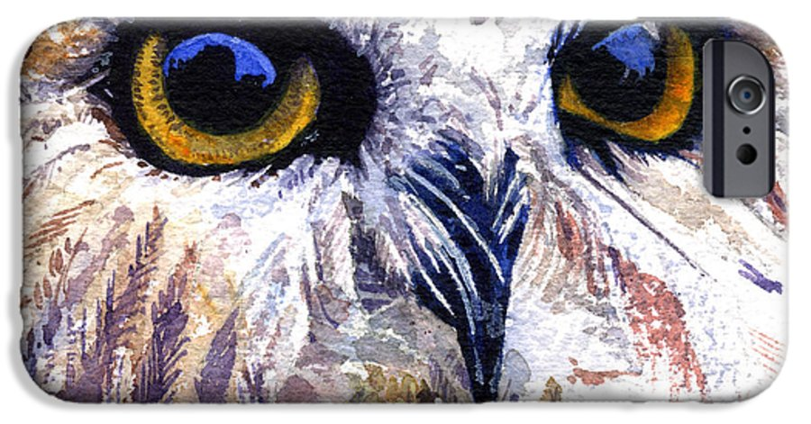 Eye IPhone 6s Case featuring the painting Owl by John D Benson