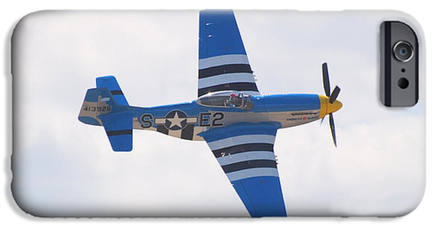 P 51 IPhone 6s Case featuring the photograph P-51 Mustang American Rose by Larry Keahey