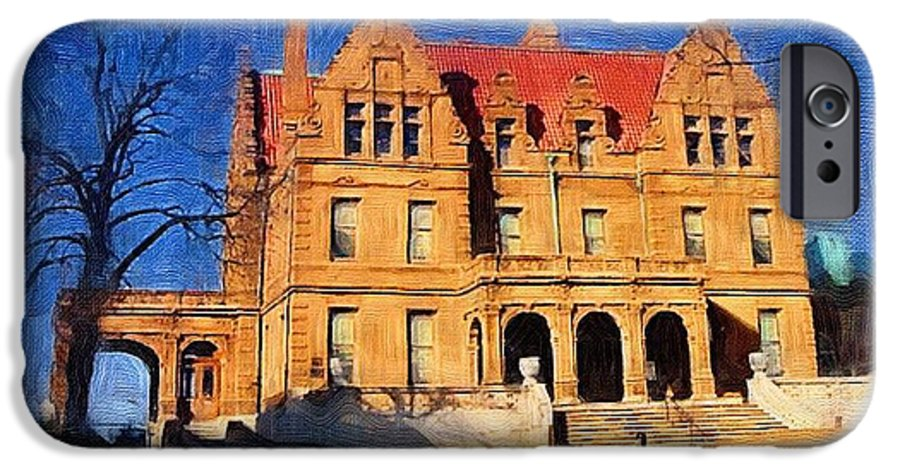 Architecture IPhone 6s Case featuring the digital art Pabst Mansion by Anita Burgermeister