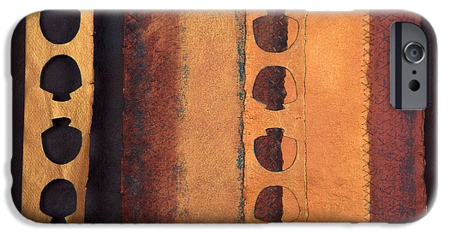 Pageformat IPhone 6s Case featuring the mixed media Page Format No 3 Tansitional Series  by Kerryn Madsen-Pietsch