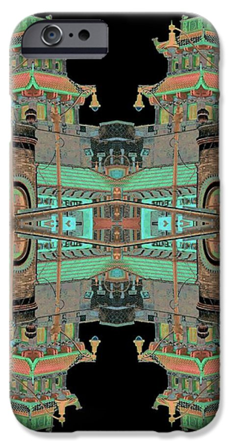 China Town IPhone 6s Case featuring the photograph Pagoda Tower Becomes Chinese Lantern 1 Chinatown Chicago by Marianne Dow