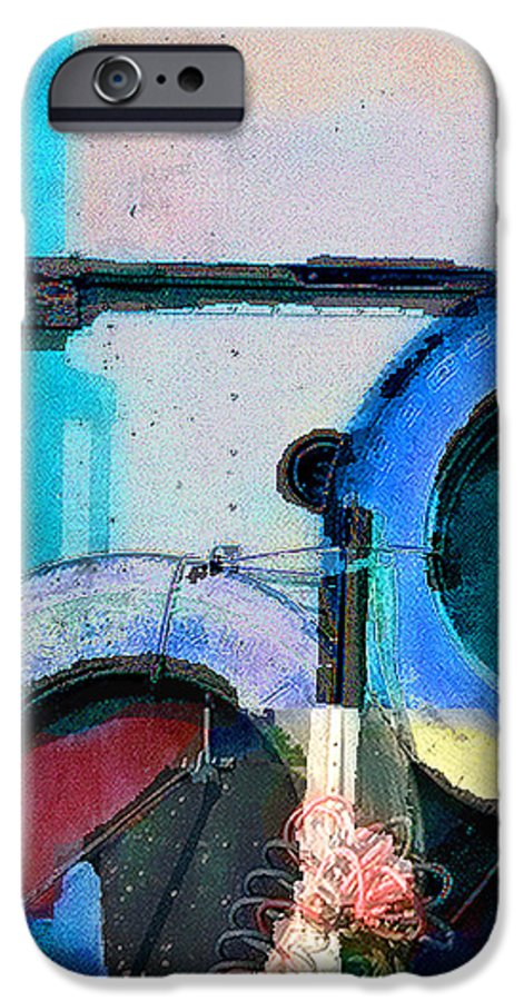Abstract IPhone 6s Case featuring the photograph panel three from Centrifuge by Steve Karol