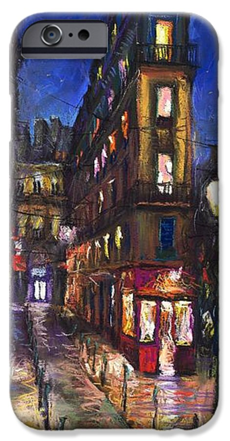Landscape IPhone 6s Case featuring the painting Paris Old Street by Yuriy Shevchuk