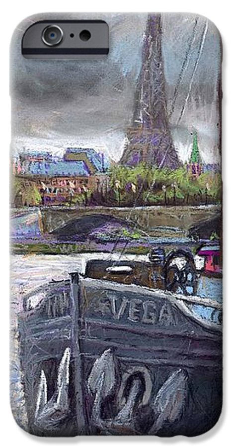 Pastel IPhone 6s Case featuring the painting Paris Pont Alexandre IIi by Yuriy Shevchuk