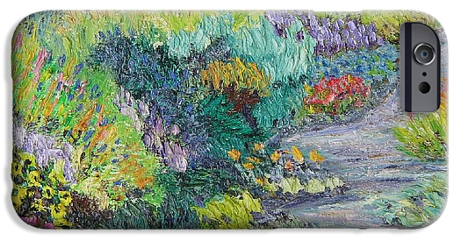 Flowers IPhone 6s Case featuring the painting Pathway Of Flowers by Richard Nowak