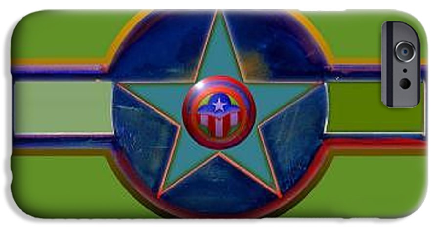 Usaaf Insignia IPhone 6s Case featuring the digital art Pax Americana Decal by Charles Stuart