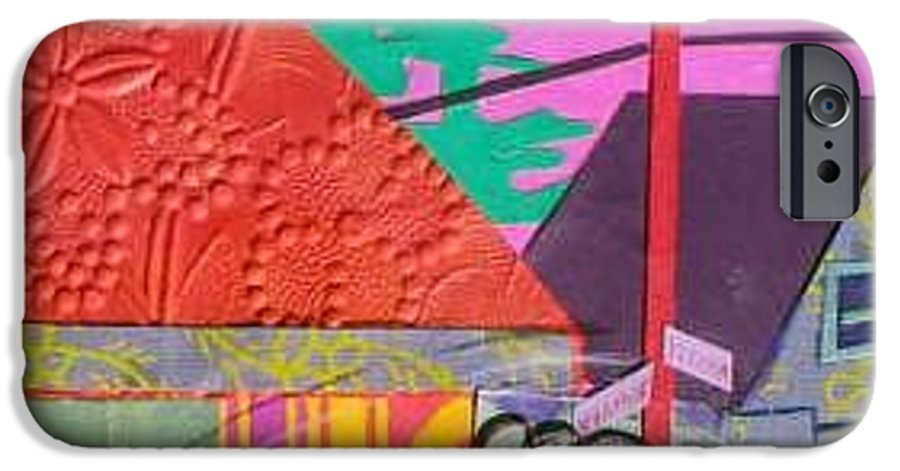 City IPhone 6s Case featuring the mixed media Perham Street by Debra Bretton Robinson