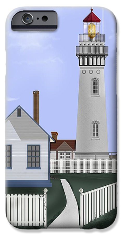 Lighthouse IPhone 6s Case featuring the painting Pigeon Point Lighthouse California by Anne Norskog