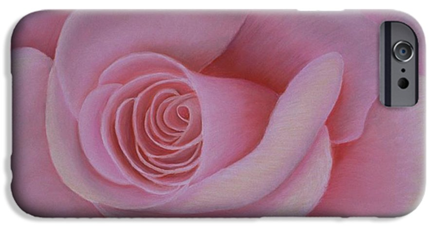 Rose IPhone 6s Case featuring the painting Pink Blush by Mary Erbert