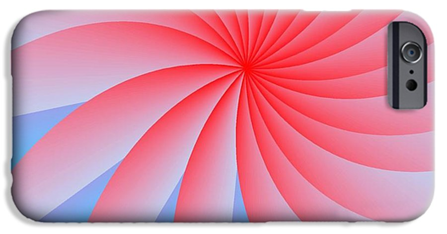 Abstract IPhone 6s Case featuring the digital art Pink Passion Flower by Michael Skinner