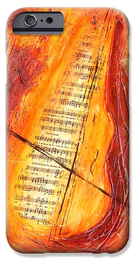 Music IPhone 6s Case featuring the painting Poesial Visual by Ivan Guaderrama