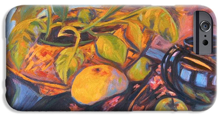 Still Life IPhone 6s Case featuring the painting Pollys Plant by Kendall Kessler