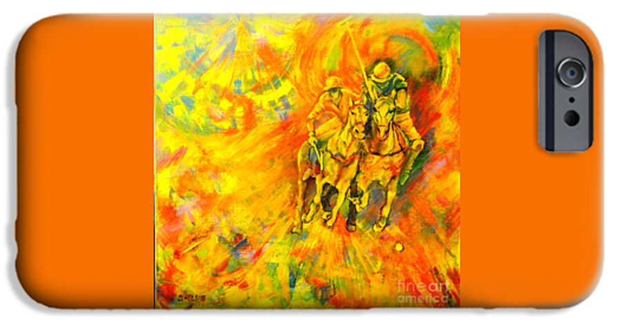 Horses IPhone 6s Case featuring the painting Poloplayer by Dagmar Helbig