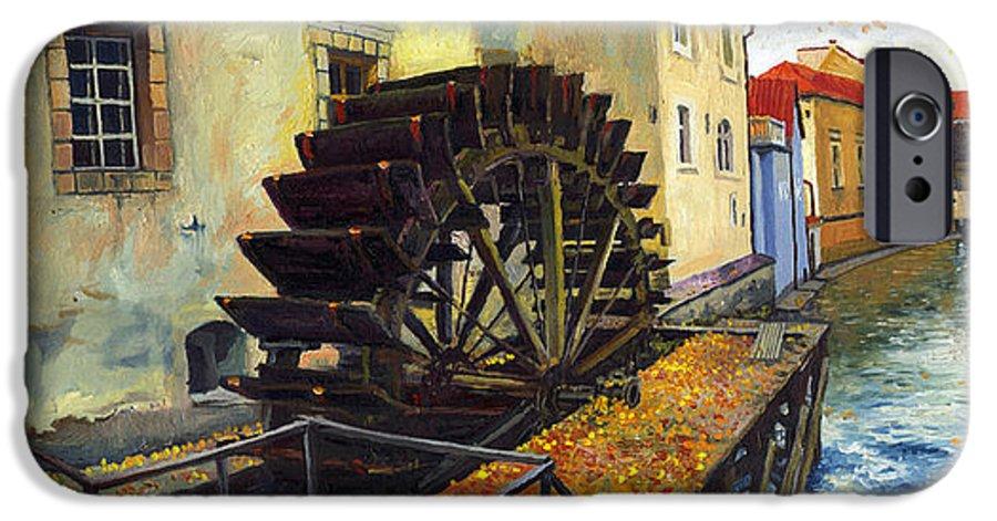Prague IPhone 6s Case featuring the painting Prague Chertovka by Yuriy Shevchuk