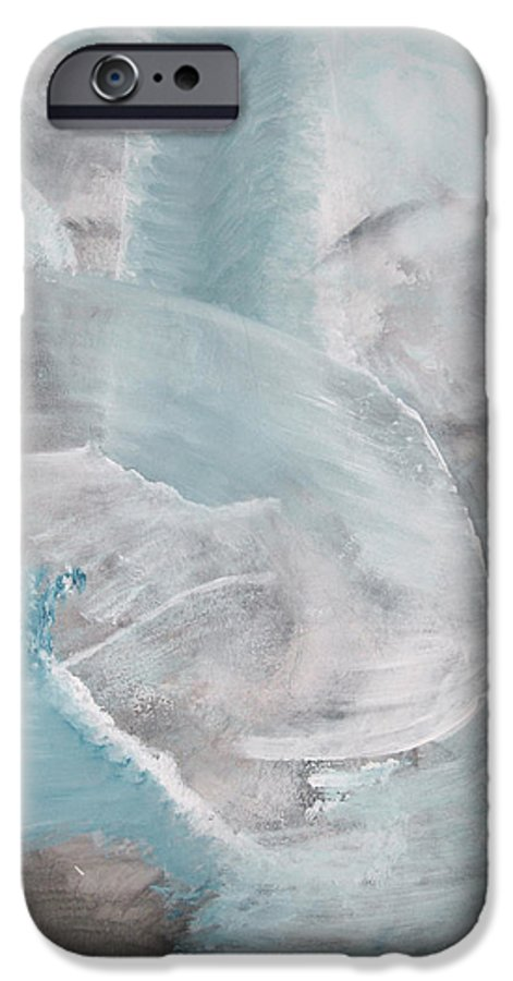 Abstract Acrylic Darkestartist Landscape Painting Waterfall Blue Water IPhone 6s Case featuring the painting Private Waterfall by Darkest Artist
