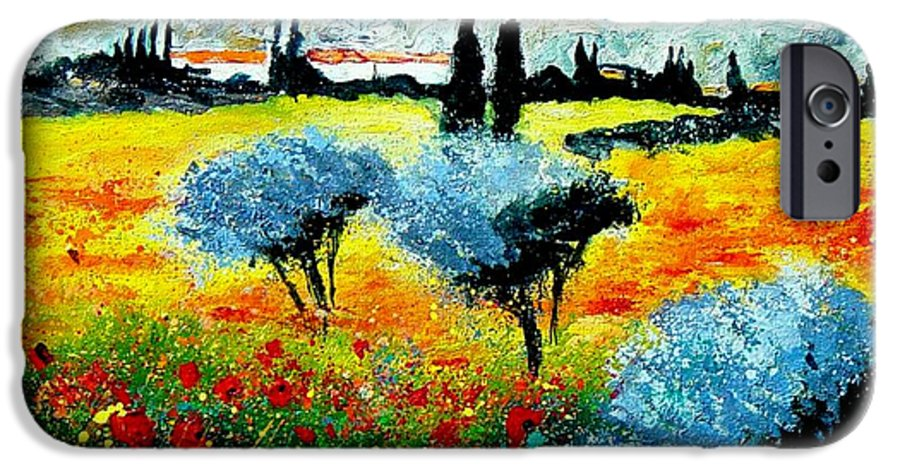 Poppies IPhone 6s Case featuring the painting Provence by Pol Ledent