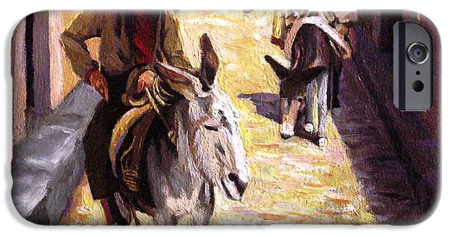 Impressionism IPhone 6s Case featuring the painting Pulling Up The Rear In Mexico by Nancy Griswold