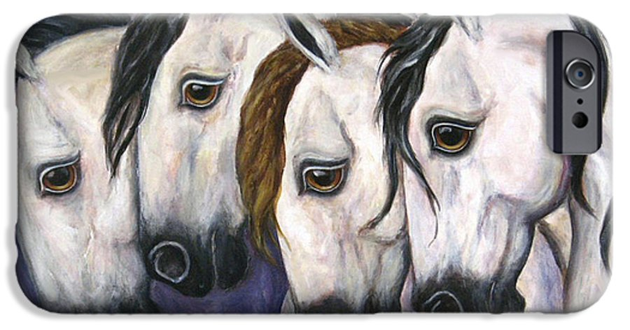 Horse Painting IPhone 6s Case featuring the painting Purple Haze by Frances Gillotti