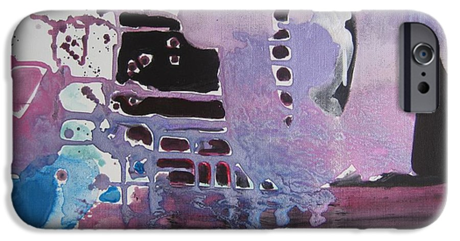 Abstract Paintings IPhone 6s Case featuring the painting Purple Seascape by Seon-Jeong Kim