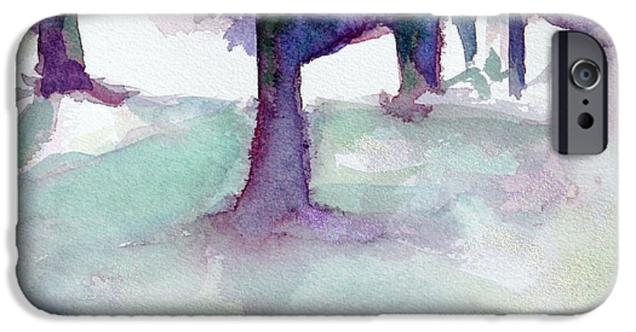 Landscape IPhone 6s Case featuring the painting Purplescape II by Jan Bennicoff