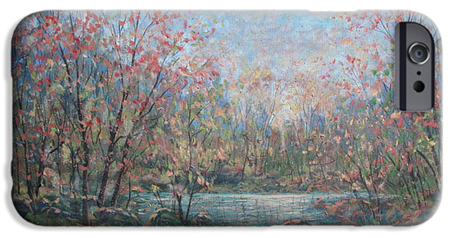 Landscape IPhone 6s Case featuring the painting Quiet Evening. by Leonard Holland