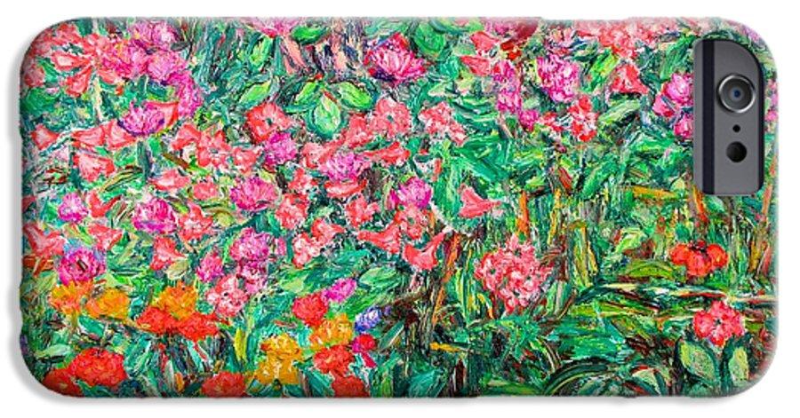 Kendall Kessler IPhone 6s Case featuring the painting Radford Flower Garden by Kendall Kessler