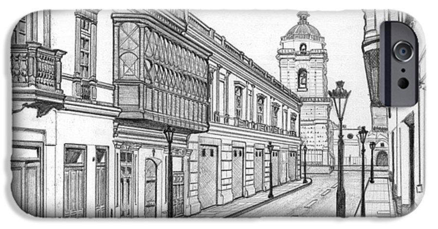 Landscape IPhone 6s Case featuring the drawing Rastro De San Francisco by German Paredes