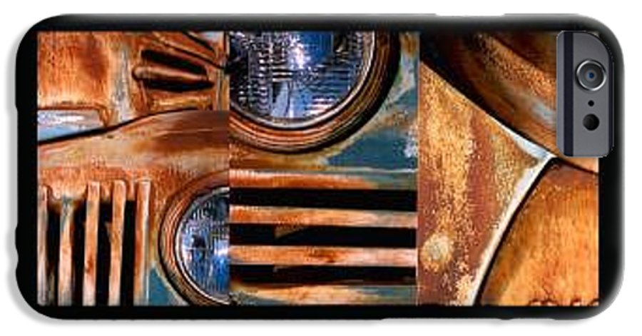 Abstract Photo Of Chevy Truck IPhone 6s Case featuring the photograph Red Head On by Steve Karol