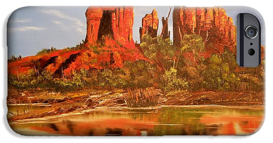 Rocks IPhone 6s Case featuring the painting Red Rock by Patrick Trotter