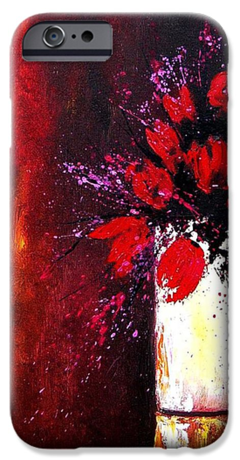 Flowers IPhone 6s Case featuring the painting Red Tulips by Pol Ledent