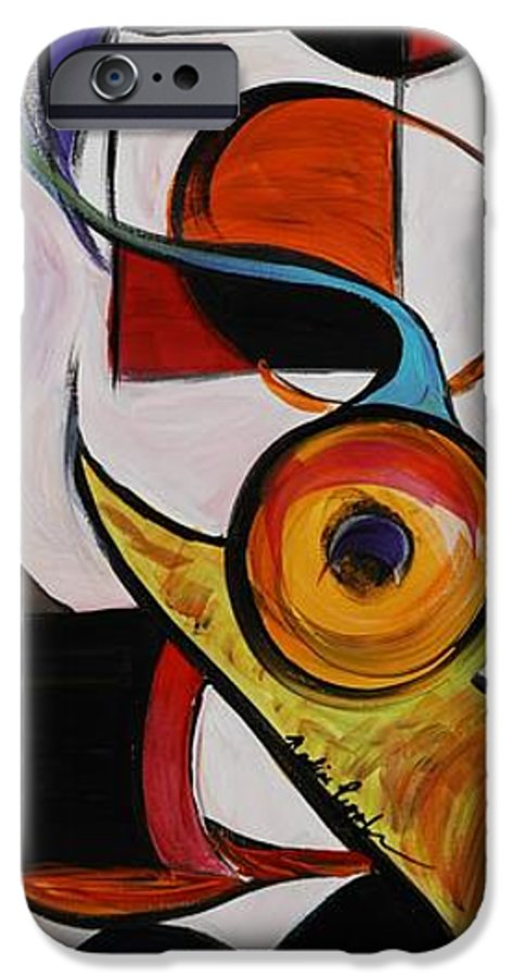 Shapes IPhone 6s Case featuring the painting Relationships by Nadine Rippelmeyer