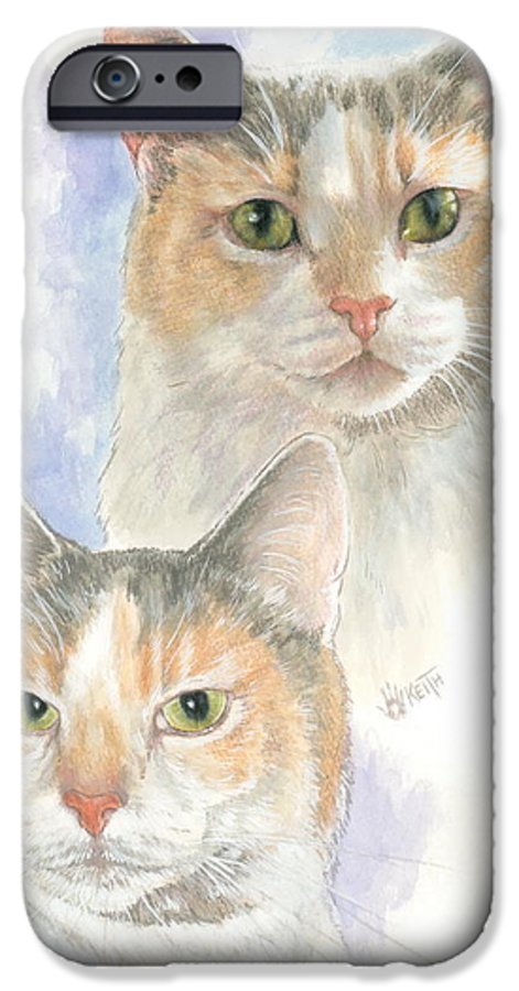 Domestic IPhone 6s Case featuring the mixed media Reno by Barbara Keith