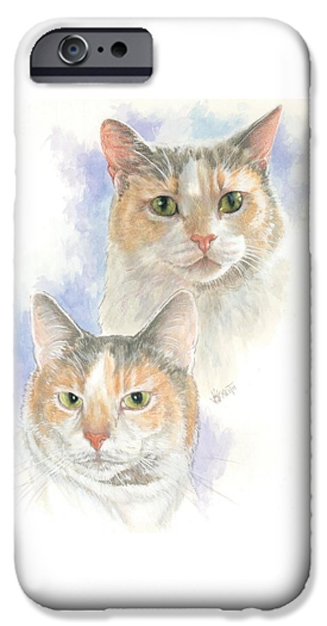 Domestic Cat IPhone 6s Case featuring the mixed media Reno by Barbara Keith