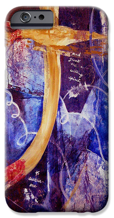 Abstract IPhone 6s Case featuring the painting Restore To Me by Ruth Palmer
