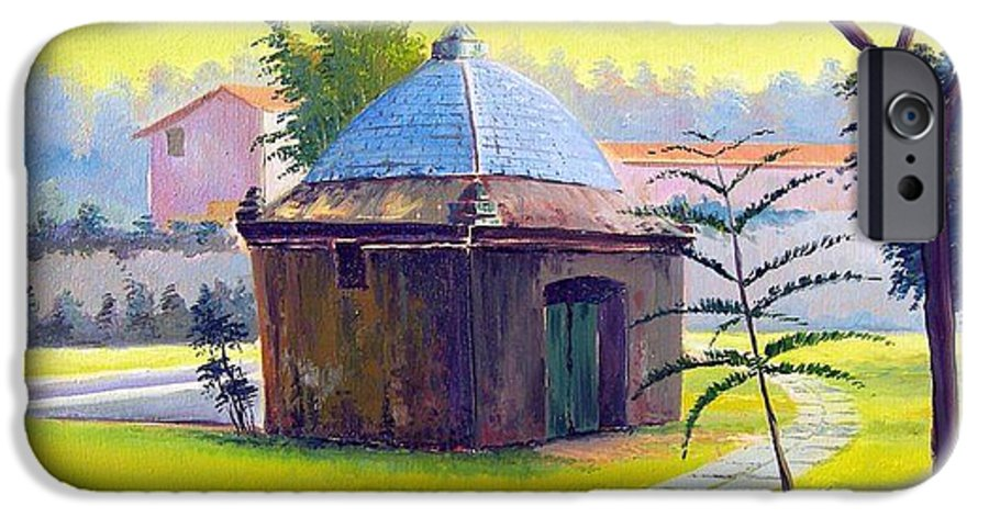 Cabo Frio IPhone 6s Case featuring the painting Rio De Janeiro - Fonte Do Itajuru - Cabo Frio - Brasil - Green Day Series by Leomariano artist BRASIL