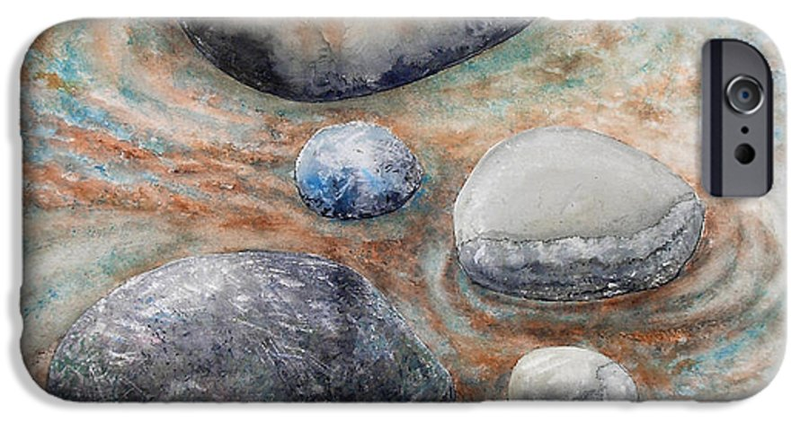 Abstract IPhone 6s Case featuring the painting River Rock 2 by Valerie Meotti