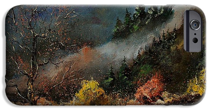 River IPhone 6s Case featuring the painting River Semois by Pol Ledent