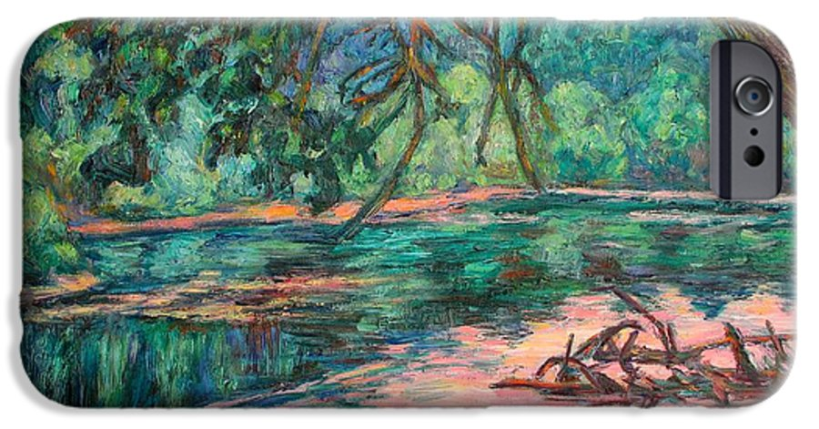Riverview Park IPhone 6s Case featuring the painting Riverview At Dusk by Kendall Kessler