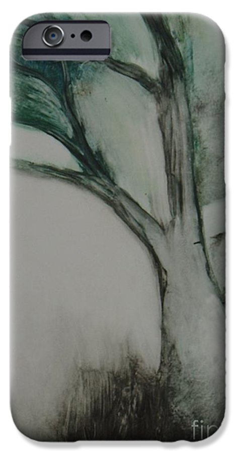 Monoprint Tree Rock Trees IPhone 6s Case featuring the painting Rock Tree by Leila Atkinson