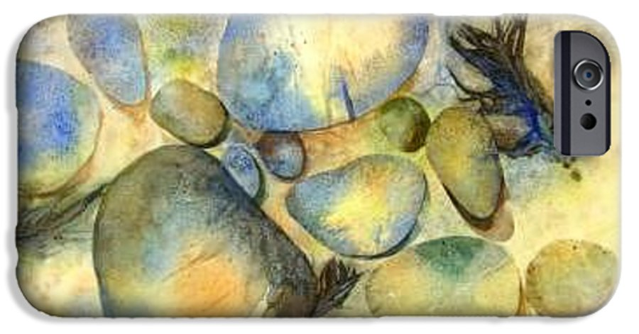 Rocks And Feathers IPhone 6s Case featuring the painting Rocks And Feather by Marlene Gremillion