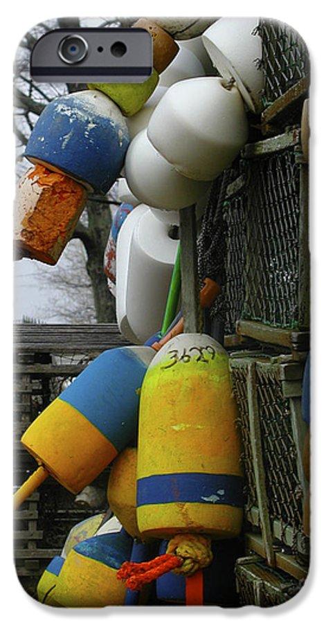 Lobster IPhone 6s Case featuring the photograph Roger's Buoys by Faith Harron Boudreau