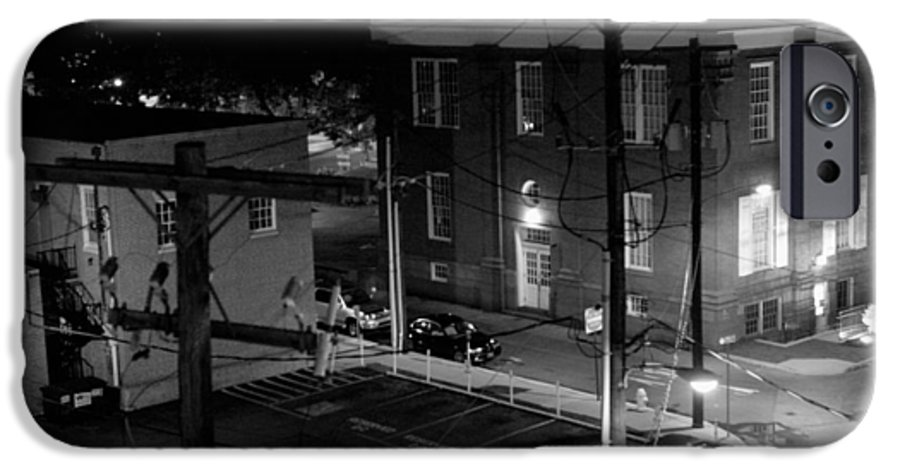 Black White IPhone 6s Case featuring the photograph Rooftop Court by Jean Macaluso