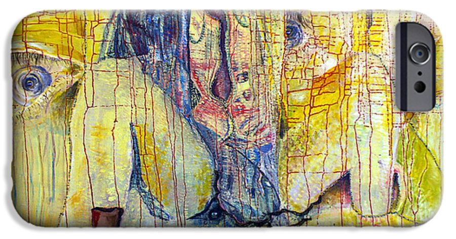 Portrait IPhone 6s Case featuring the painting Roots by Peggy Blood