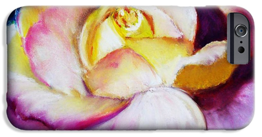 Rose IPhone 6s Case featuring the print Rose by Melinda Etzold