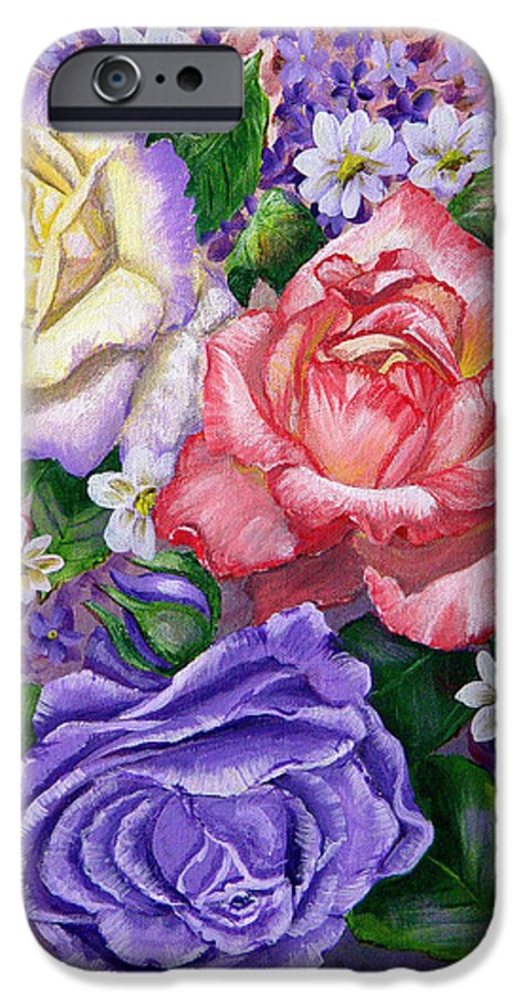 Rose IPhone 6s Case featuring the painting Roses by Quwatha Valentine