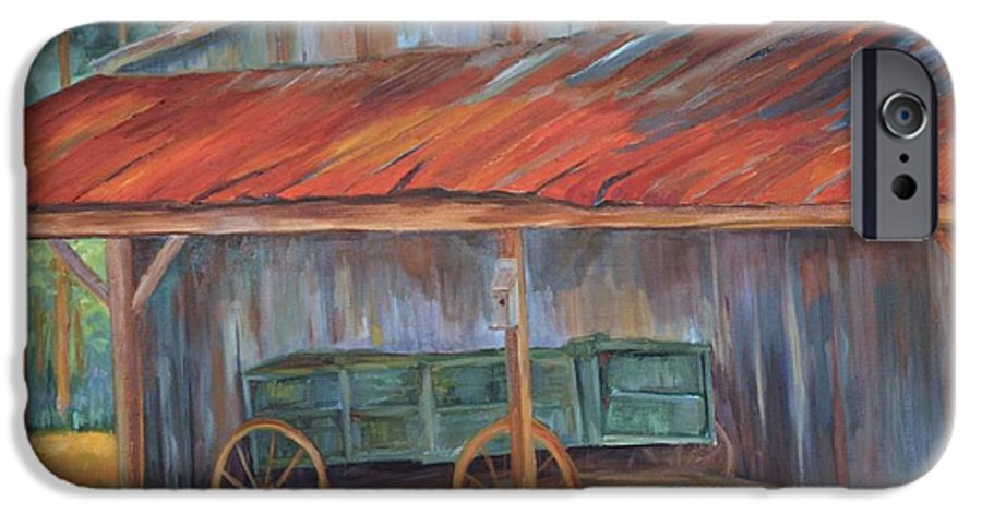 Old Wagons IPhone 6s Case featuring the painting Rustification by Ginger Concepcion