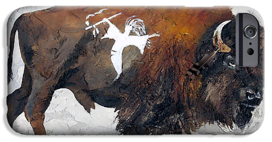 Southwest Art IPhone 6s Case featuring the painting Sacred Gift by J W Baker
