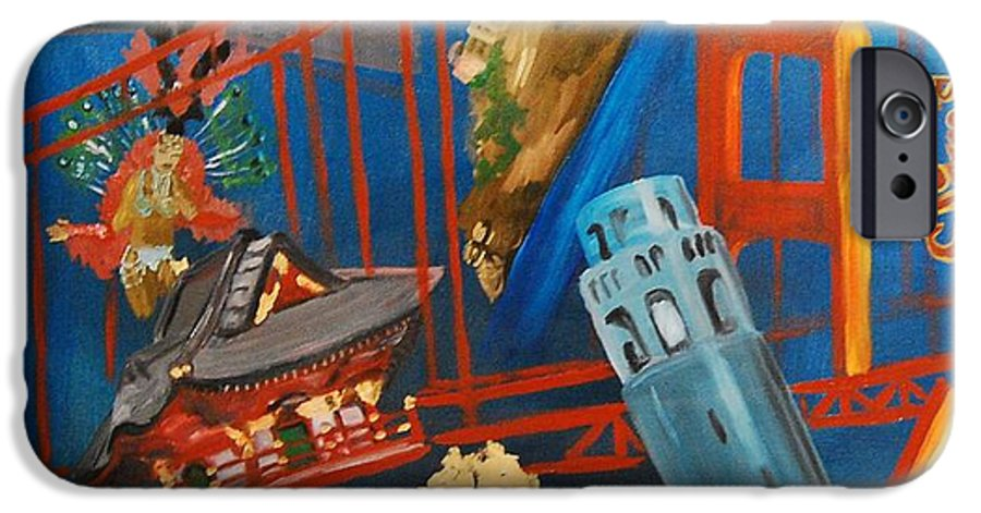 Golden Gate Bridge IPhone 6s Case featuring the painting San Fran by Lauren Luna